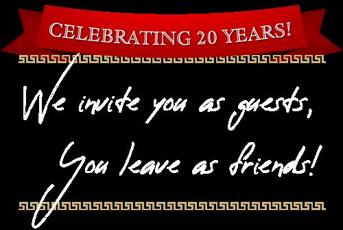 Acropolis Restaurant Celebrating 20 Years